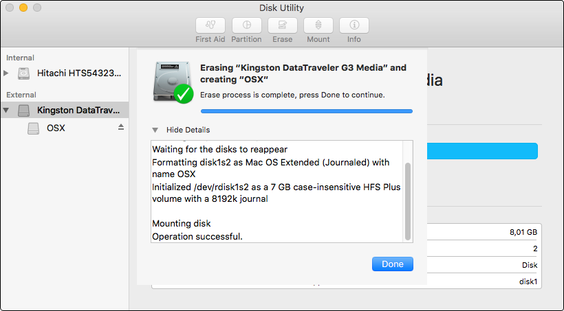 how to format a bootable mac os x installer drive